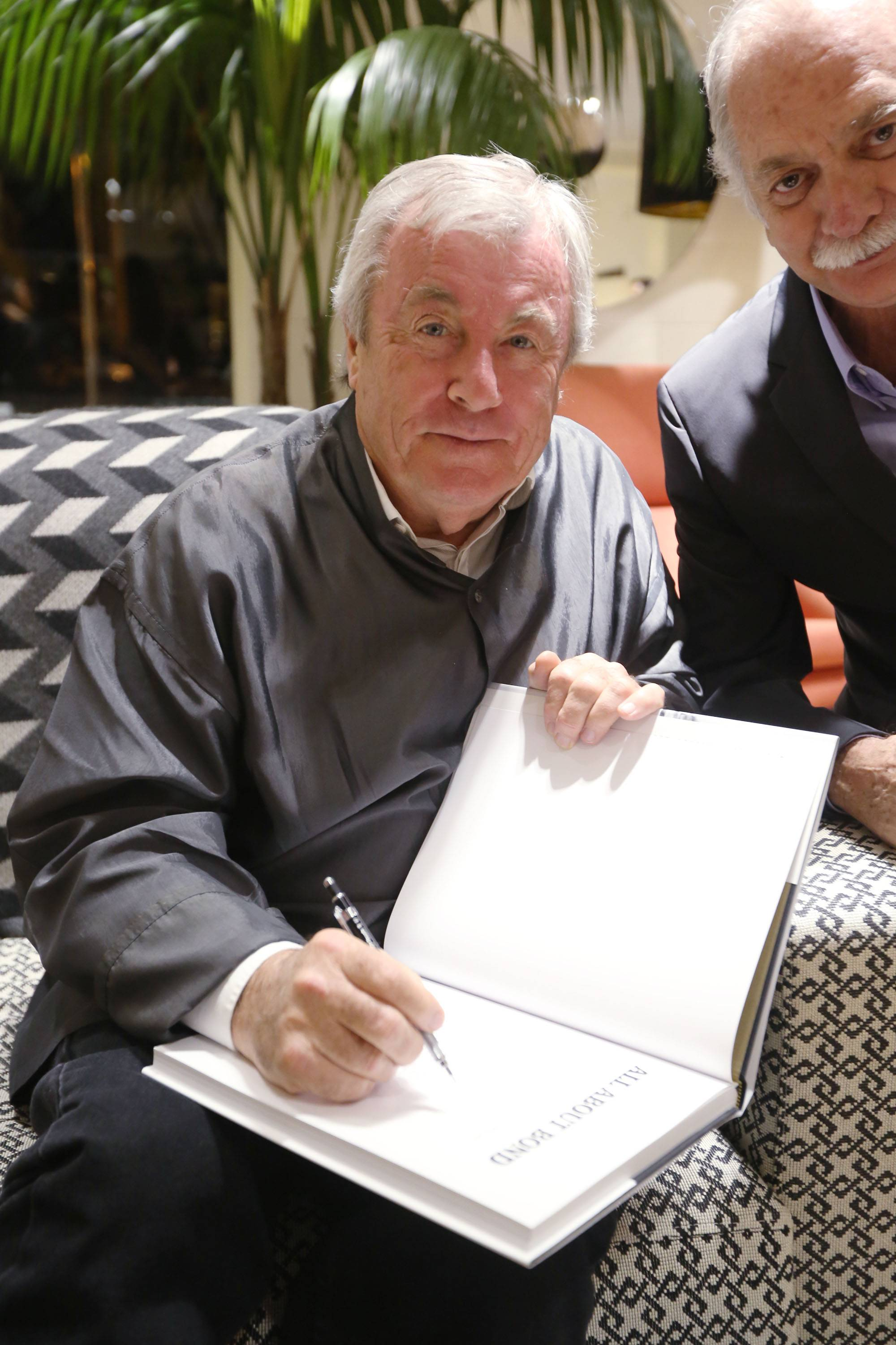 Terry O'Neill signing his book