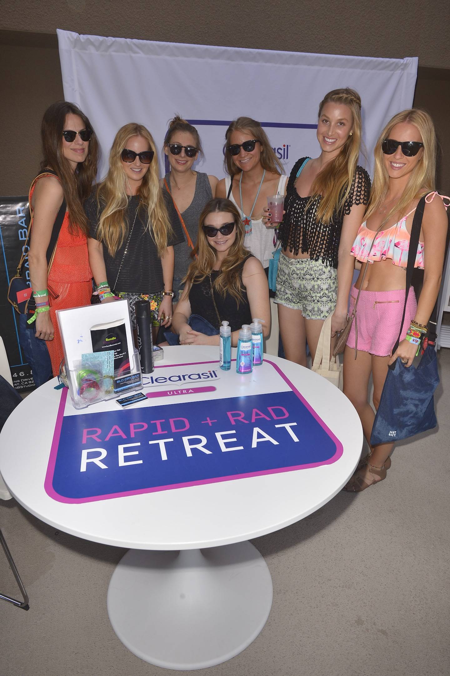 Whitney Port and friends at the Clearasil RAPID + RAD Retreat at the Hard Rock Music Lounge Hosted by Kelly Rowland - Day 2