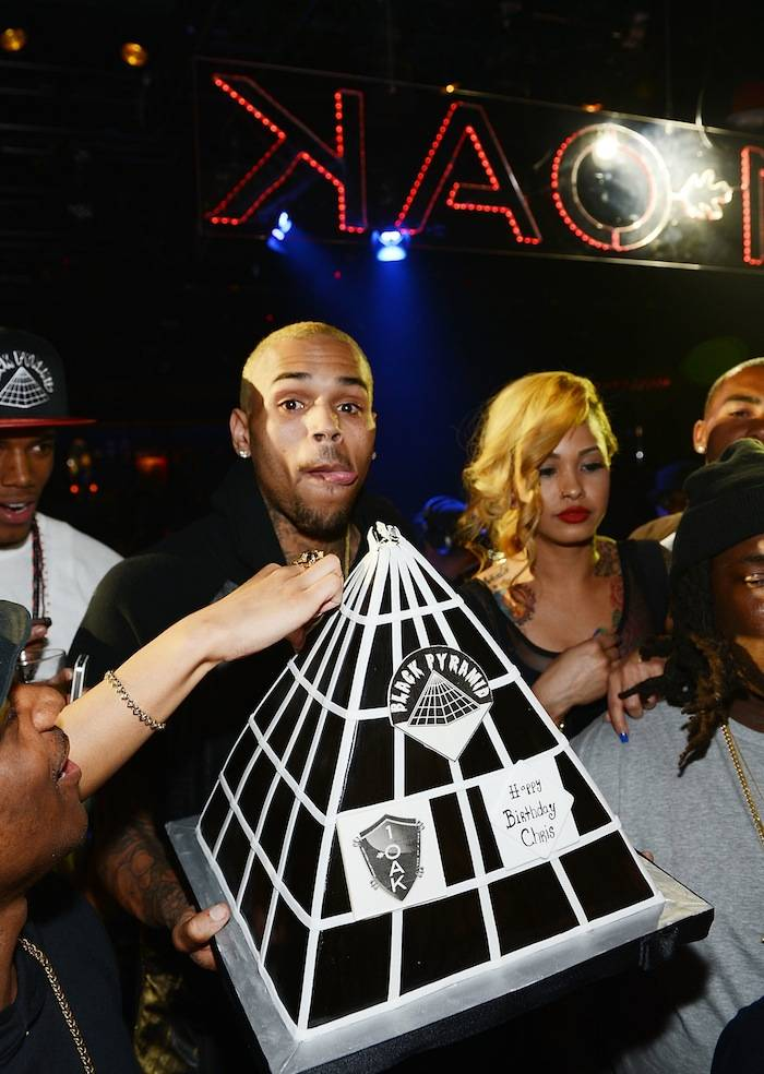 Chris Brown Celebrates His Birthday At 1OAK Nightclub At The Mirage