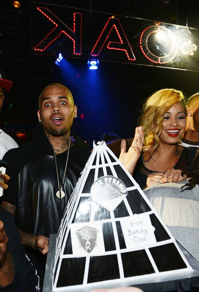 Chris Brown Celebrates His Birthday At 1 OAK Nightclub At The Mirage