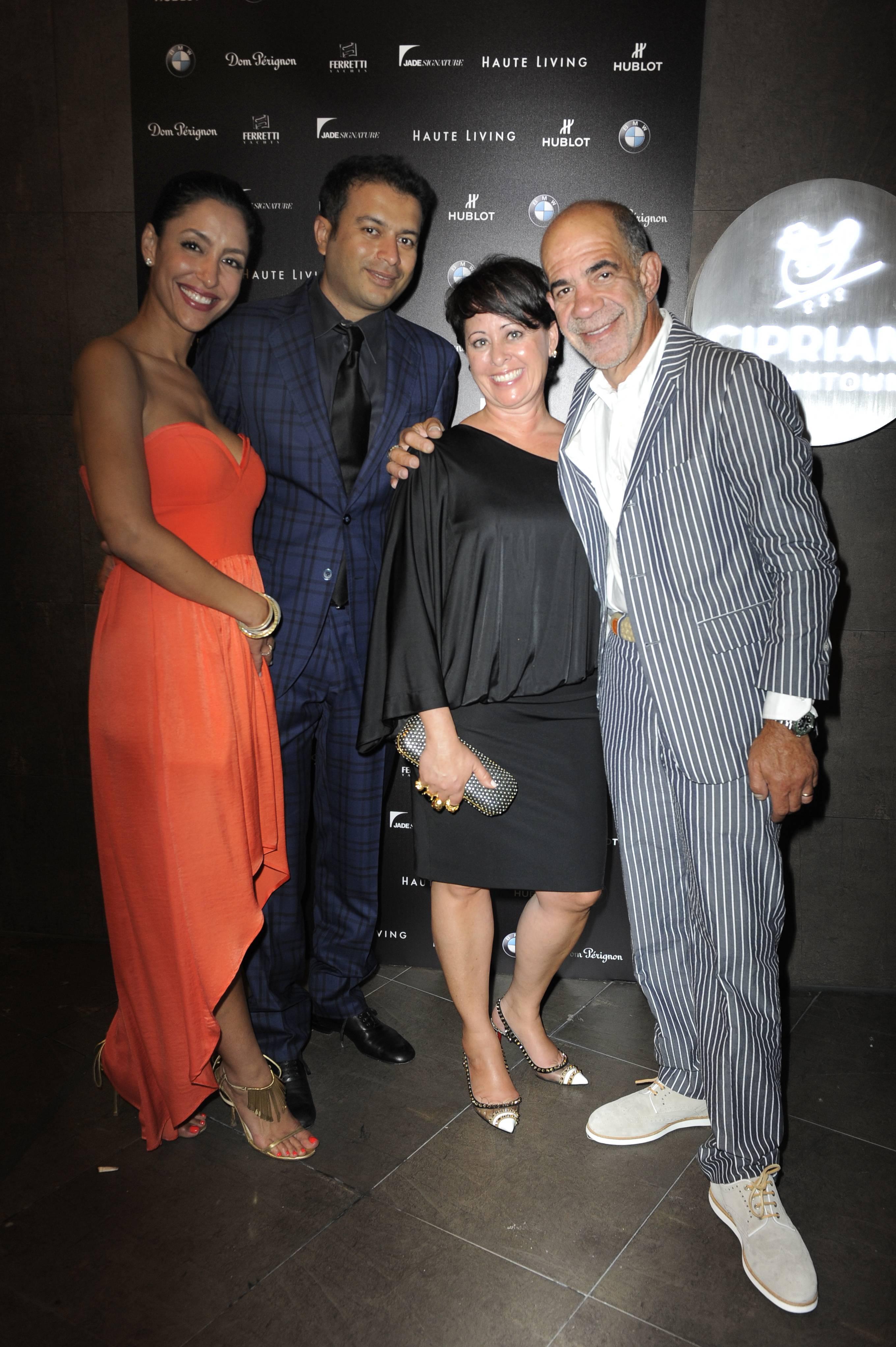 Violet Camacho, Kamal Hotchandani, Ruth and Alan Zelcer