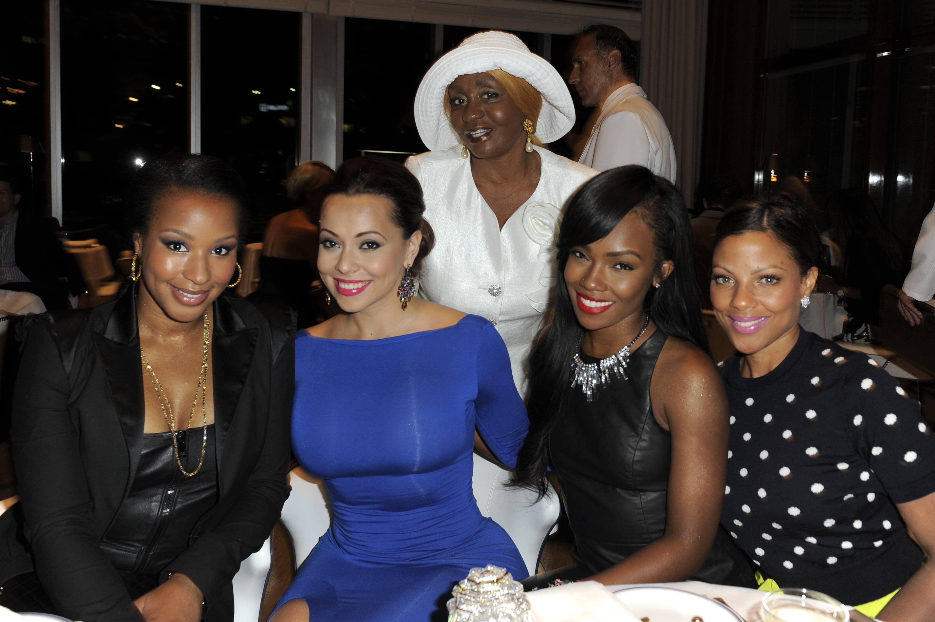 Savannah Brinson, Adrienne Bosh, Tamia Styles, Jenine Howard, Janice Combs (above)