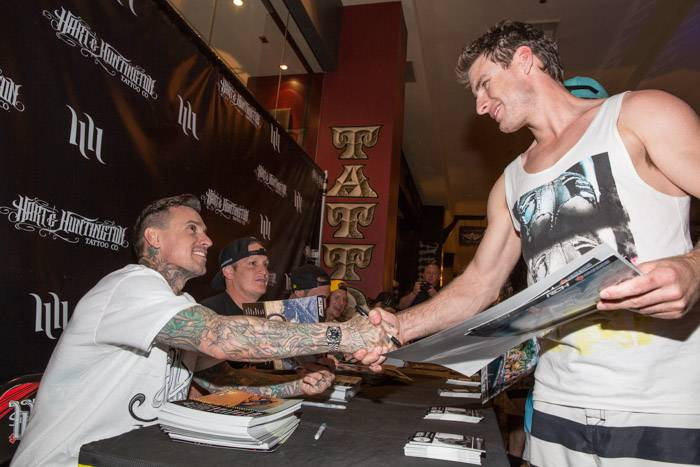 5.3.13 Carey Hart meets with fans at Hart & Huntington Tattoo Co. at Hard Rock Hotel & Casino, credit Erik Kabik
