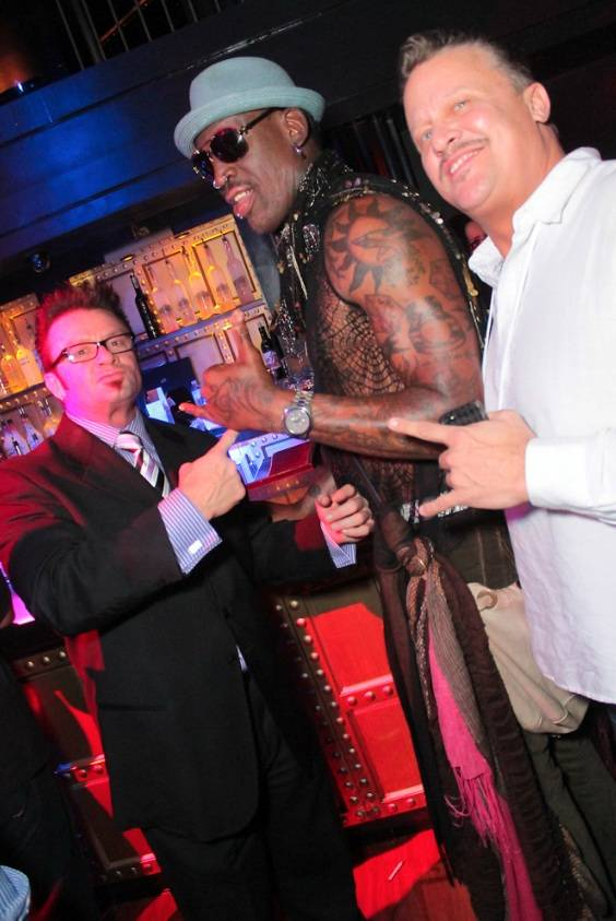 5.3.13 Dennis Rodman at Body English Nightclub & Afterhours in Hard Rock Hotel & Casino, credit Christopher Sebastian