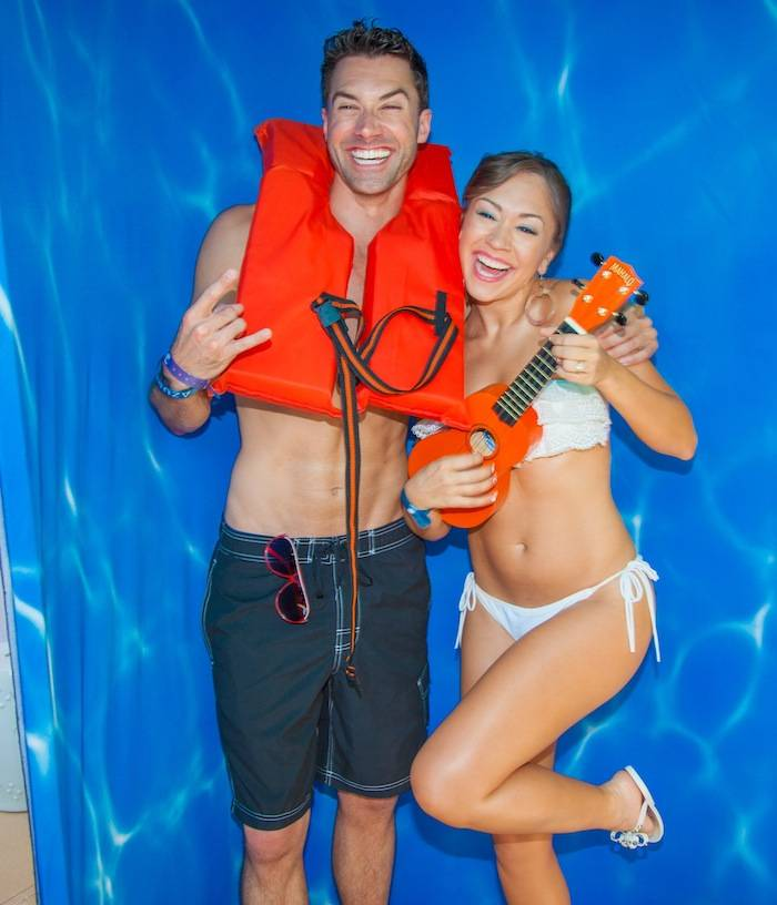 Ace Young and Diana DeGarmo at Azure Luxury Pool at The Palazzo Las Vegas