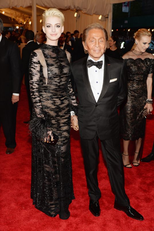 Anne Hathaway with Valentino