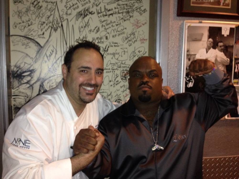 Cee-Lo Green and Executive Chef Barry Dakake