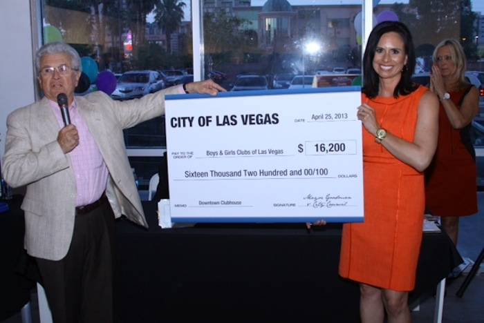 Councilman Bob Coffin & Dulcinea Almazan - check presentation