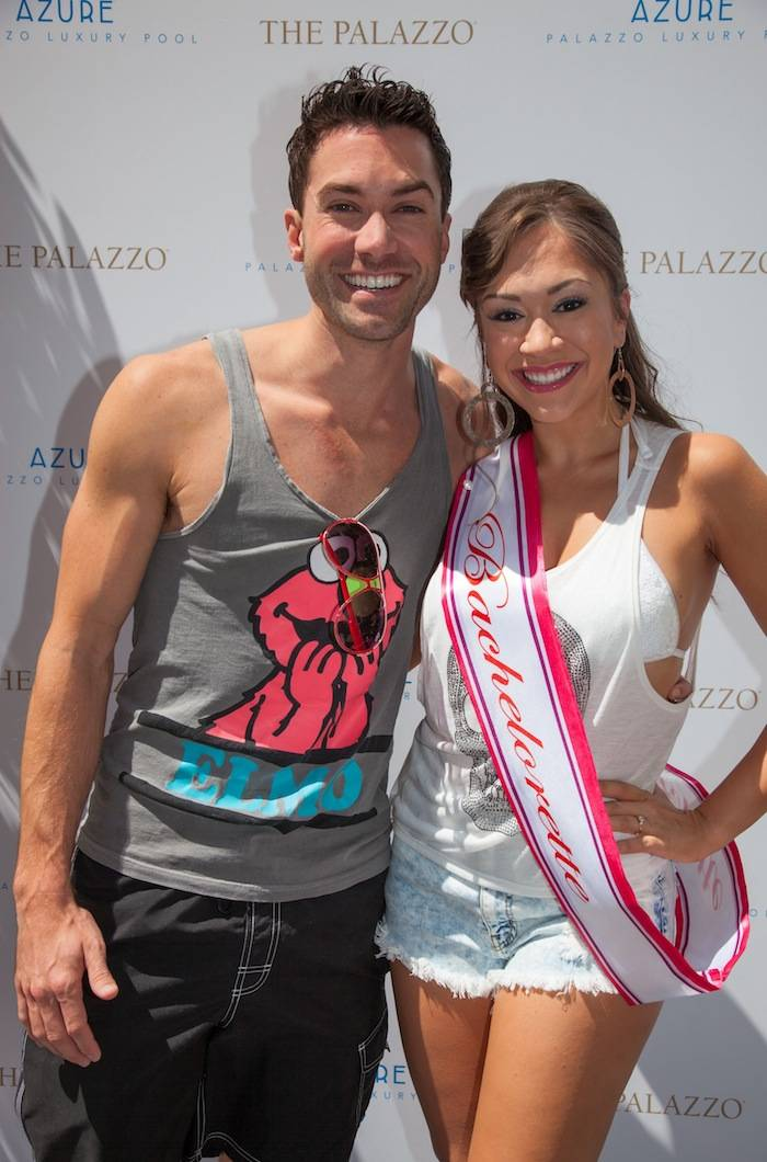 Diana DeGarmo and Ace Young at Azure Luxury Pool at The Palazzo Las Vegas2