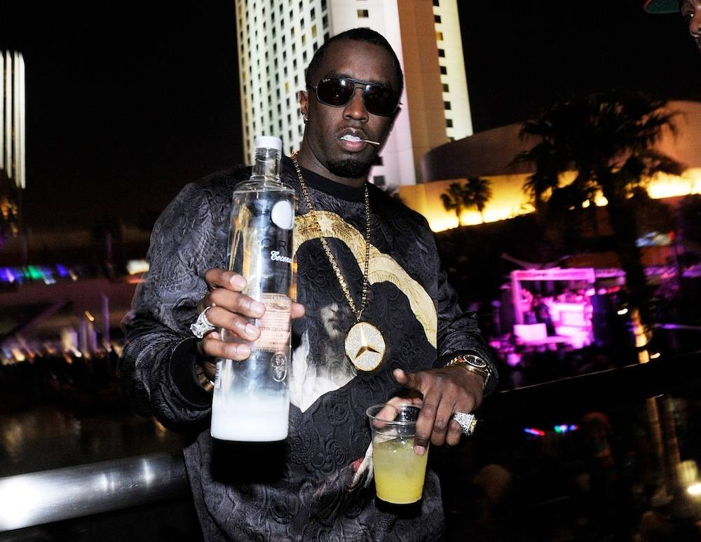 Diddy Hosts Fight Night After-Party At Palms Pool Inside Palms Casino Resort In Las Vegas