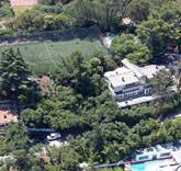 Robbie Williams had his own private football pitch constructed adjacent to the properties he now uses for guest quarters