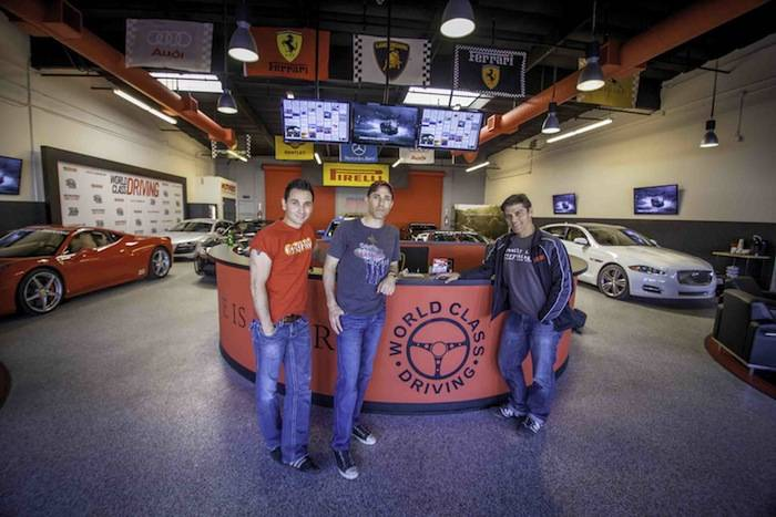 Jersey Boys Cast at World Class Driving's Dream Garage; Photo Credit Vik…
