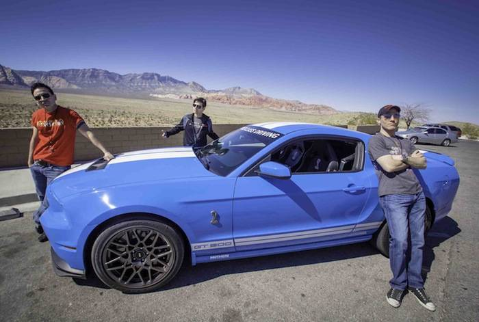 Jersey Boys cast enjoying the American Muscle Car Driving Experince; Pho...