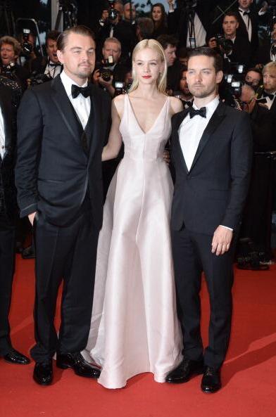 Leonardo DiCaprio, Carey Mulligan (in @Dior) and Tobey Maguire at #Cannes