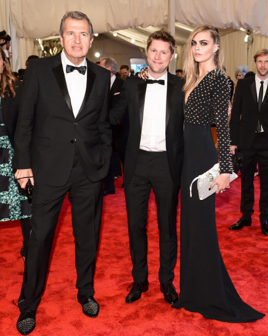 Mario Testino, Christopher Bailey and Cara Delevingne in Burberry