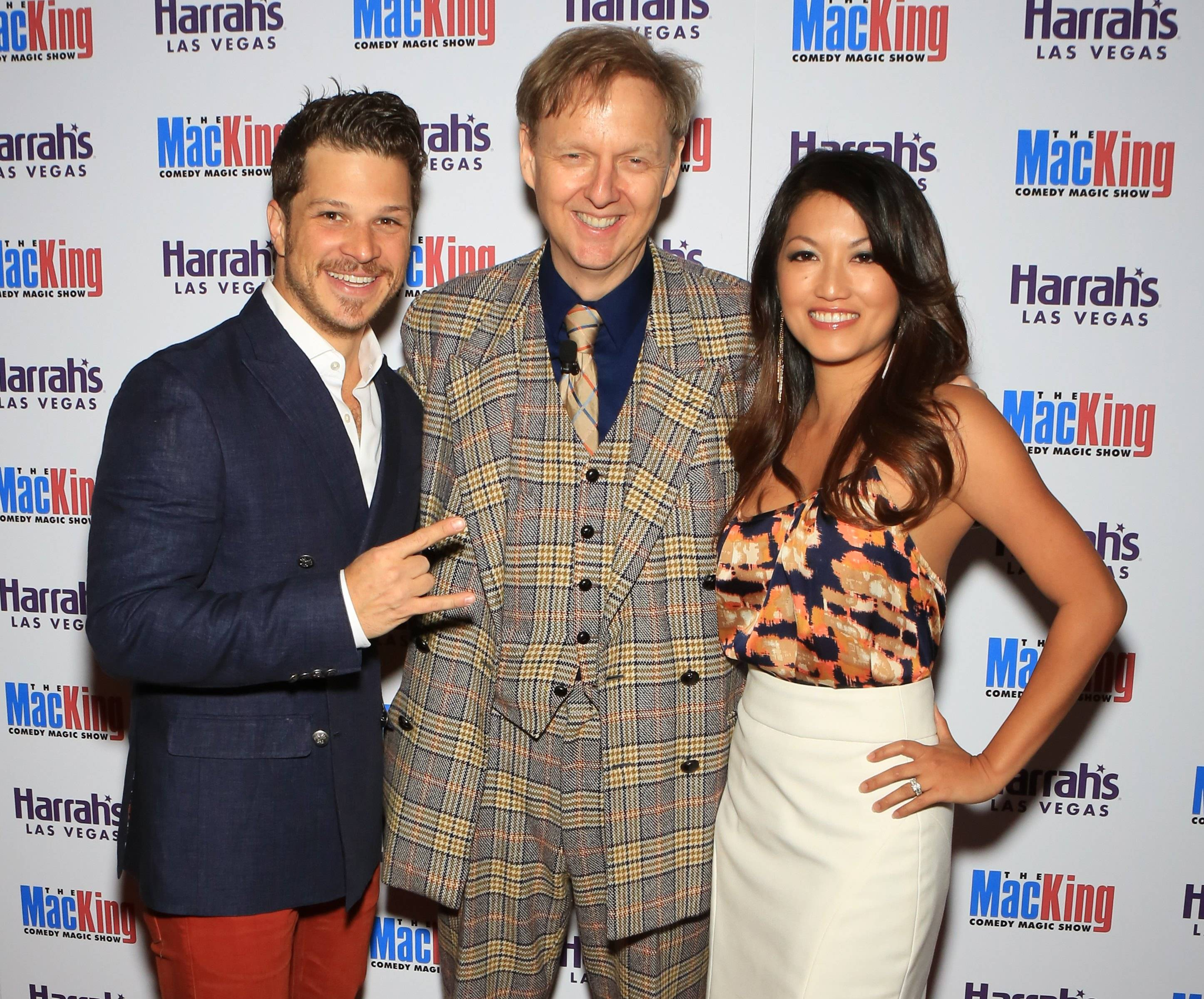 Mark Shunock, Rock of Ages and wife Cheryl Daro with Mac King