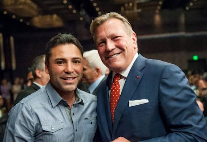 Oscar De La Hoya and CEO John Unwin_lores
