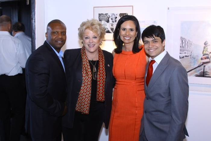 Reggie Turner (B&GCLV Board President), Mayor Goodman, Dulcinea Almazan and Jorge Corral