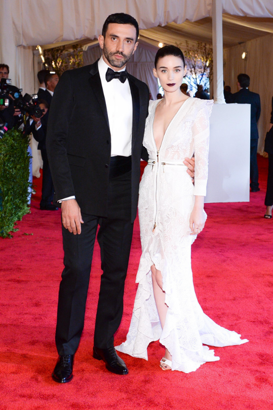Riccardo Tisci and Rooney Mara