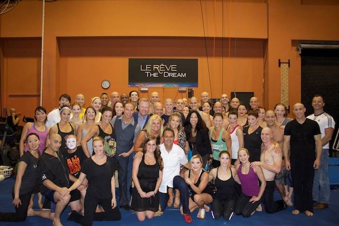 Shawn Johnson with friends and the cast of Le Reve_Courtesy of Le Reve_5-20-13 copy