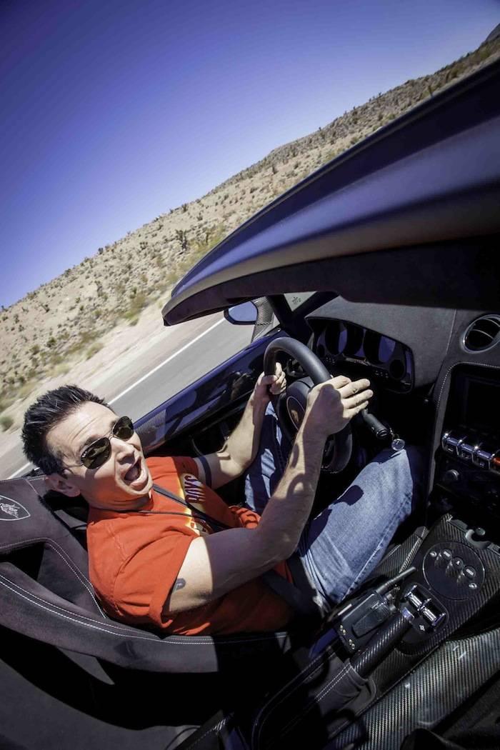 Travis Cloer driving a Lamborghini LP570 Spyder; Photo Credit Vik Chohan...