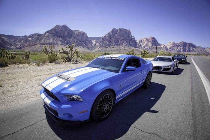 World Class Driving's Shelby GT500, Audi R8, Corvette Z06 in Red Rock Ca...