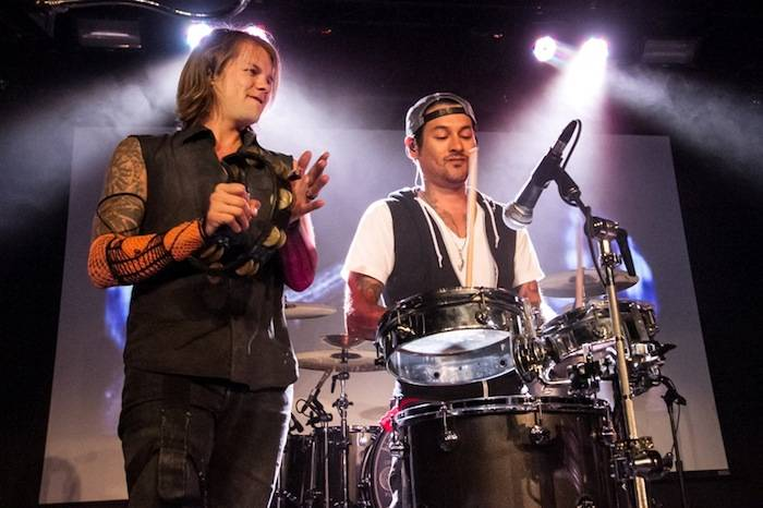 6.15.13 Street Drum Corps and José Pasillas of Incubus at Vinyl in Hard Rock Hotel & Casino, credit Karen Mandall