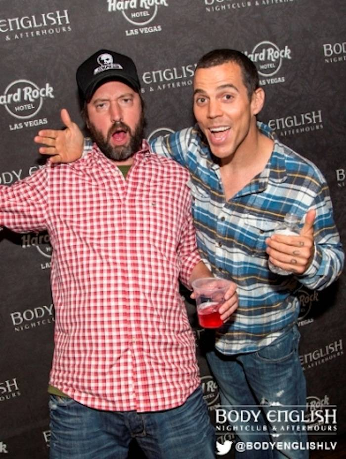 6.22.13 Tom Green and Steve O hang out at  Juicy Vegas After Dark at Body English Nightclub & Afterhours in Hard Rock Hotel & Casino, photo credit Joey Ungerer