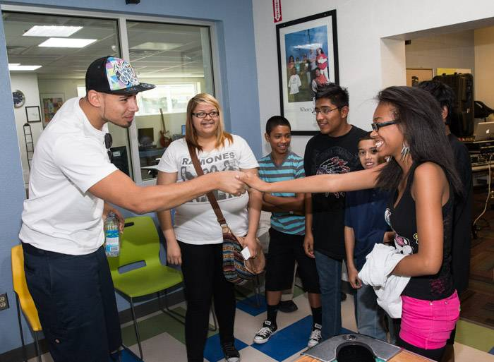Afrojack at Boys and Girls Clubs of Las Vegas DJ Class in Las Vegas, NV
