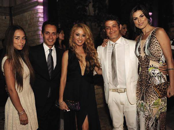Chloe Green, Marc Anthony, Paulina Rubio and guests