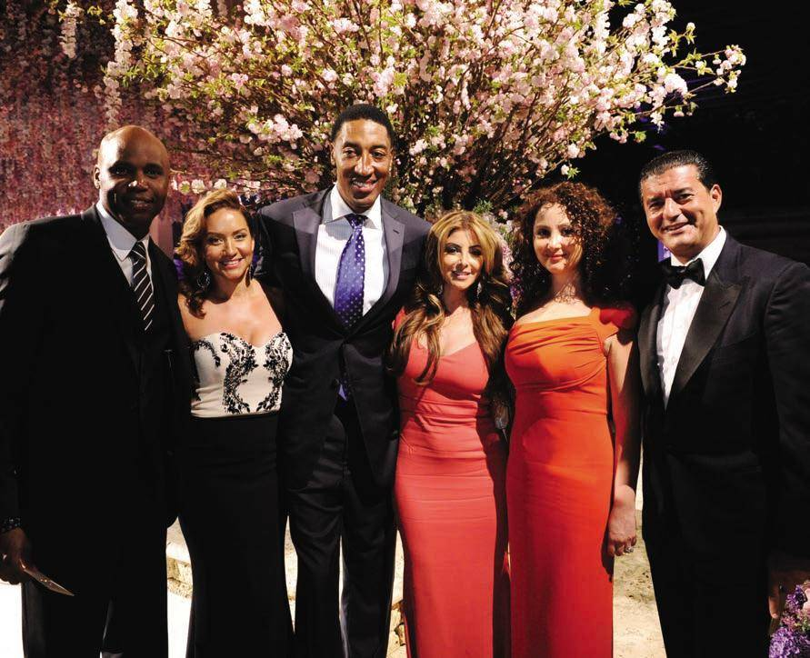 Cliff Floyd, Mary Floyd, Scottie Pippen, Larsa Pippen, Angela Arabo, Jacob Arabo