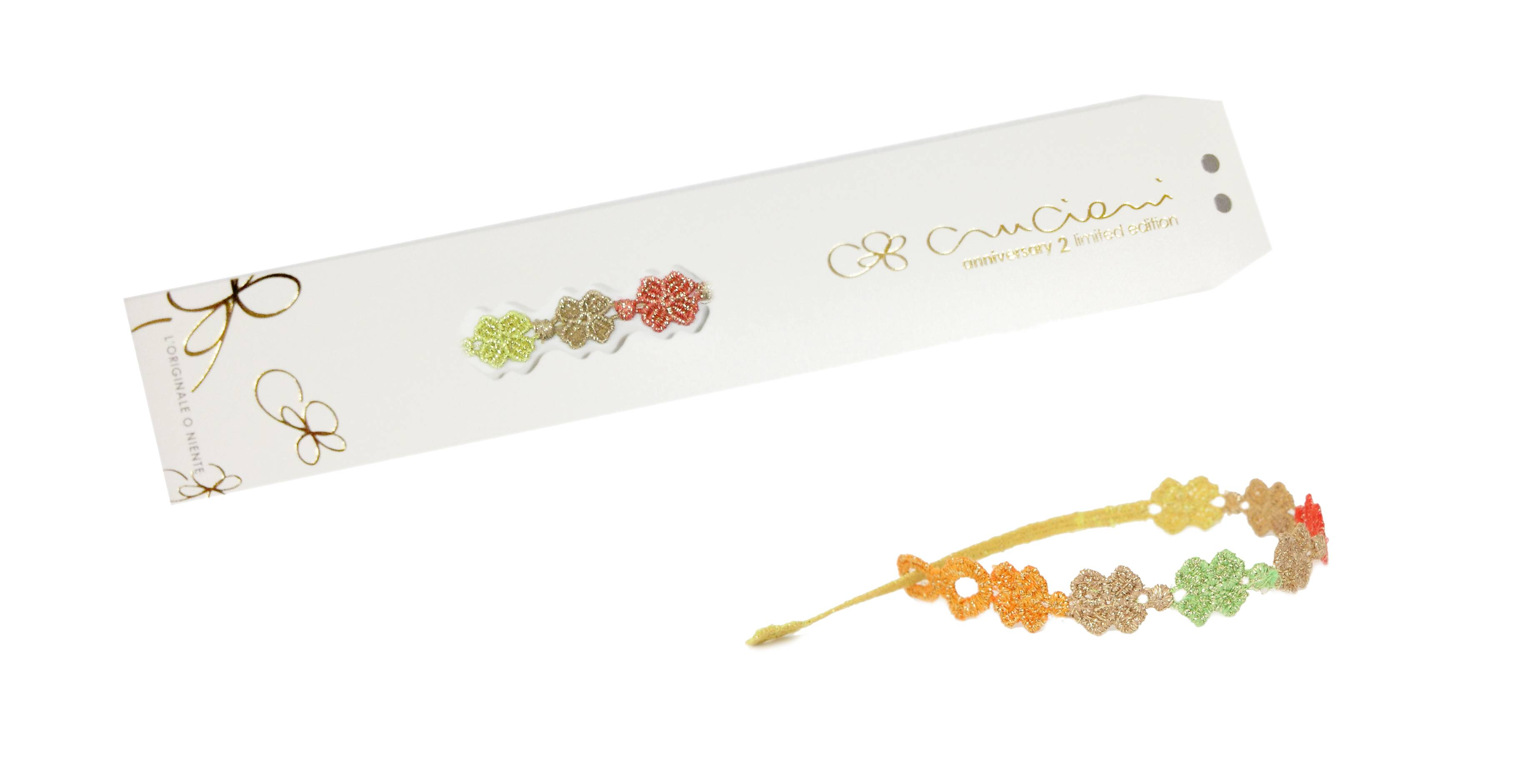 Cruciani C – braccialetto quadrifoglio anniversary