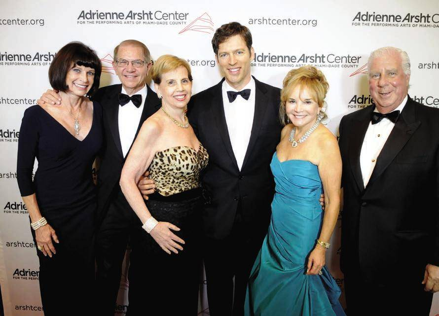 Gala Co-Chairs, Margaret and Mike Eidson, Adrienne Arsht, Harry Connick Jr., and Gala Chairs, Swanee and Paul DiMare