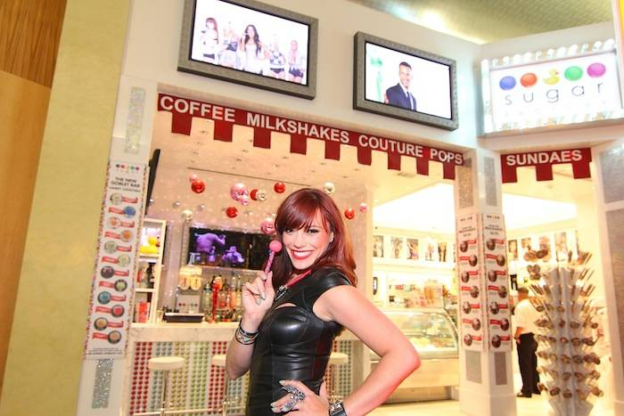 Jessica Sutta at Sugar Factory's Goblet Bar