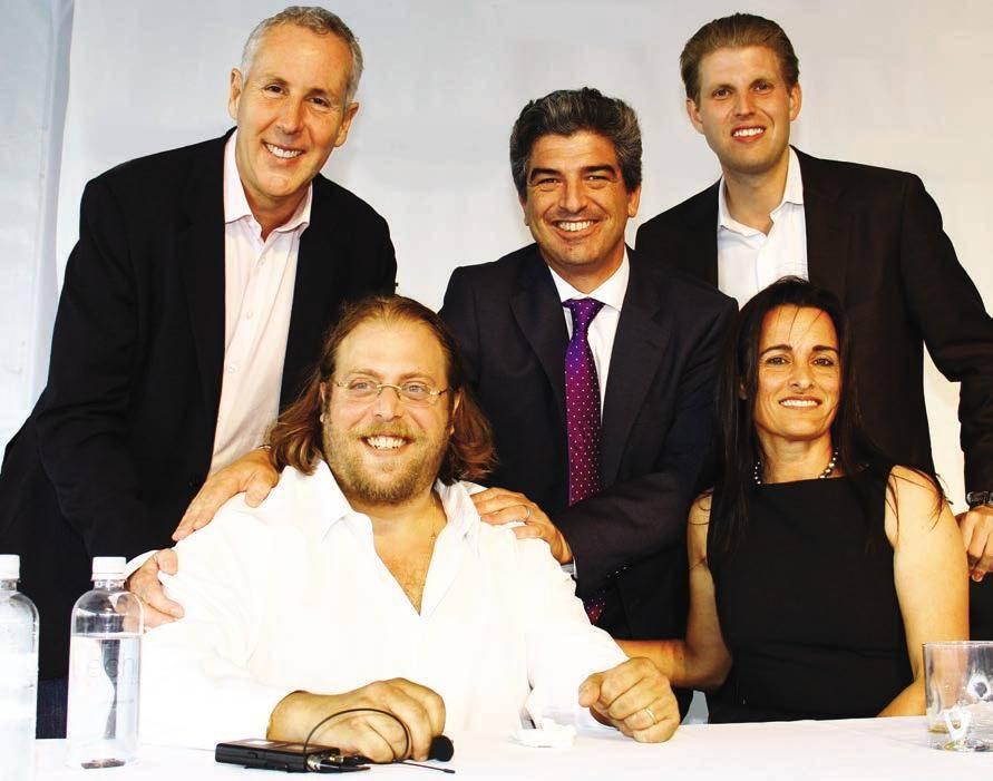 Kevin Maloney, Gil Dezer, Carlos Rosso, Eric Trump and Avra Jain