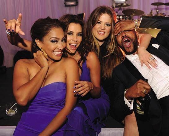 Lala Anthony, Eva Longoria, Khloe Kardashian, Maxwell