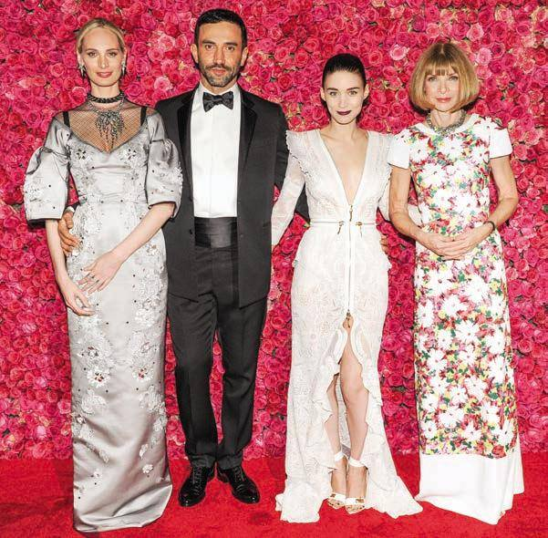 Lauren Santo Domingo, Riccardo Tisci, Rooney Mara and Anna Wintour