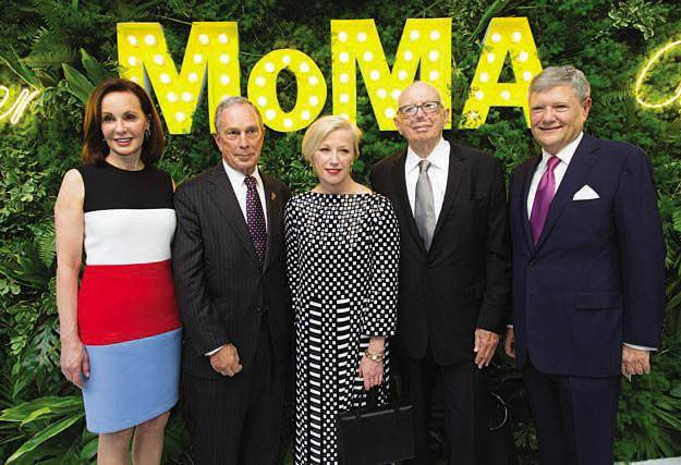 Marie-Josée Kravis, Mayor Michael R. Bloomberg, Cindy Sherman, Ellsworth Kelly and Jerry I. Speyer