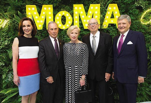 Marie-Josée Kravis, Mayor Michael R. Bloomberg, Cindy Sherman, Ellsworth Kelly and Jerry I. Speyer