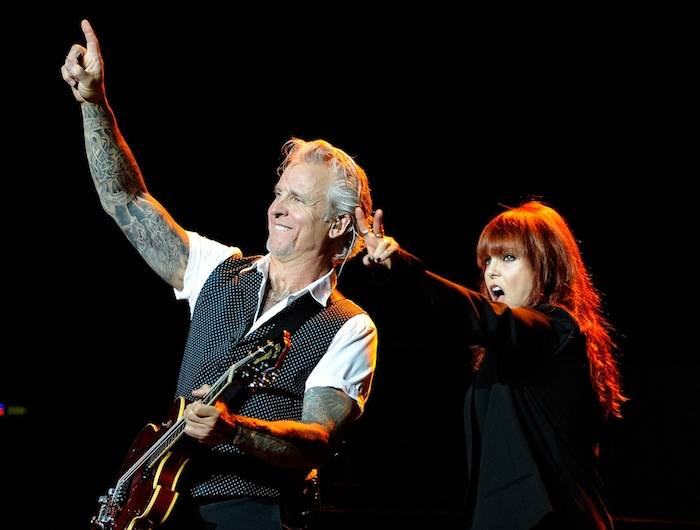 Guitarist Neil Giraldo (L) and singer Pat Benatar perform at The Pearl concert theater at the Palms Casino Resort on June 15, 2013 in Las Vegas. (Photo by David Becker)
