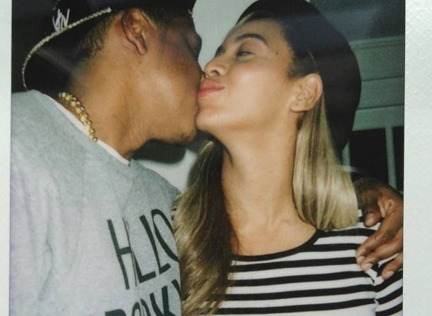 Beyonce shared a sweet snap with her husband Jay-Z from Kanye West's birthday party in New York