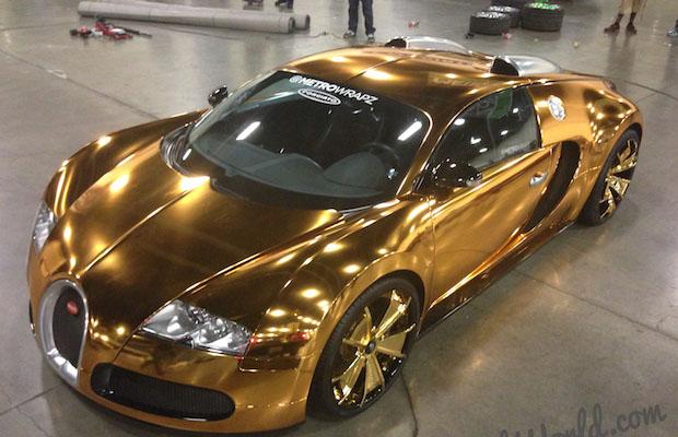 Miami Rapper Flo Rida Wraps His Bugatti Veyron In 24 Karat