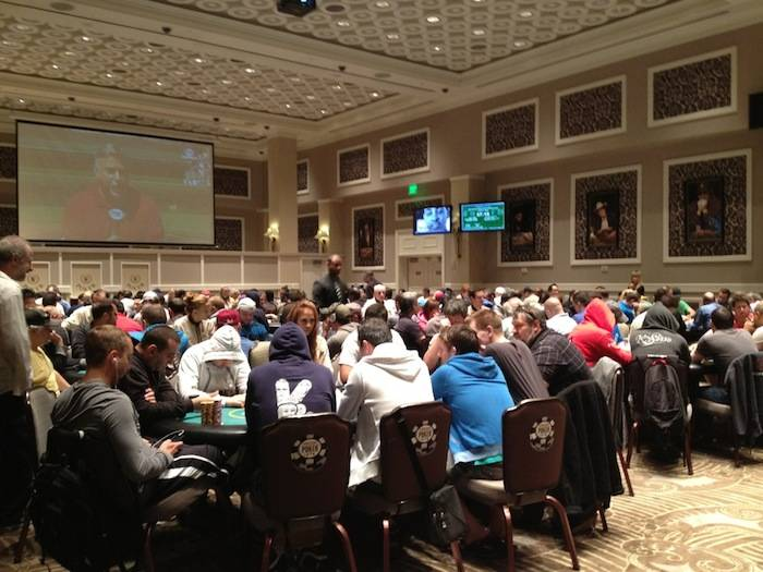 2013 Mega Stack Series Main Event at Caesars Palace poker room on Friday, July 12, 2013.