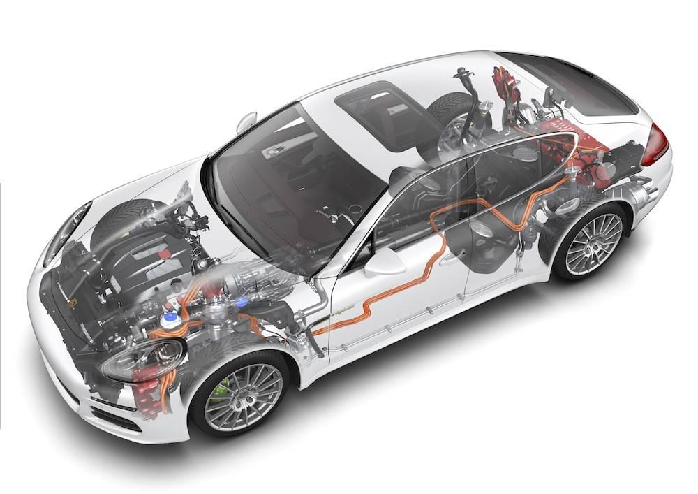 2014 Porsche Panamera S E-Hybrid Drivetrain _1_