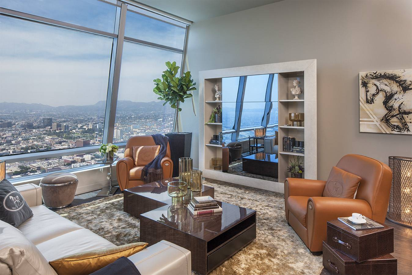 The ritz carlton residences downtown debut fendi casa for Penthouse apartment los angeles