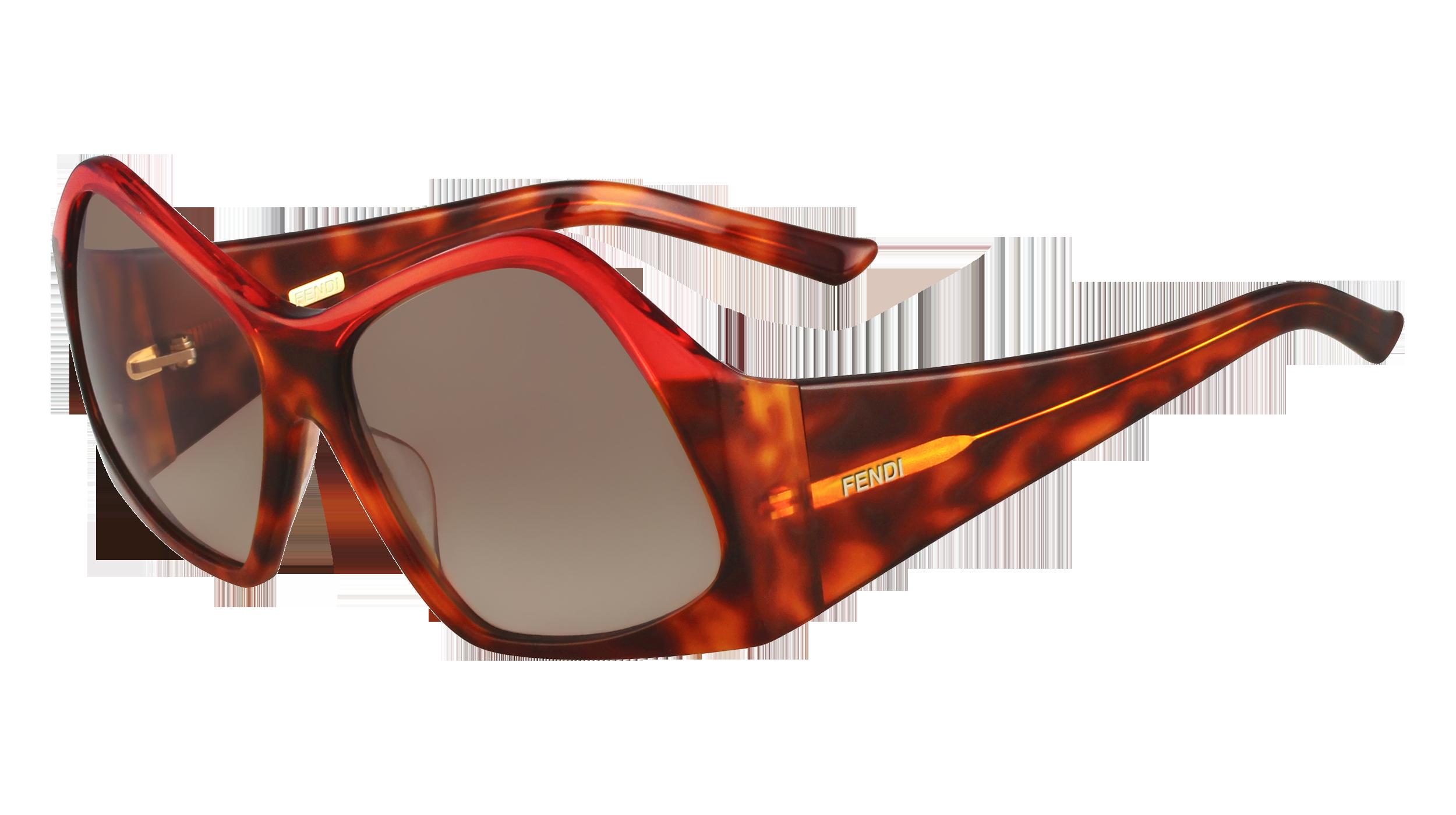 Fendi geometric sunglasses in red_AED 2,290