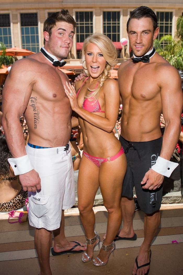 Gretchen Rossi and Chippendales models