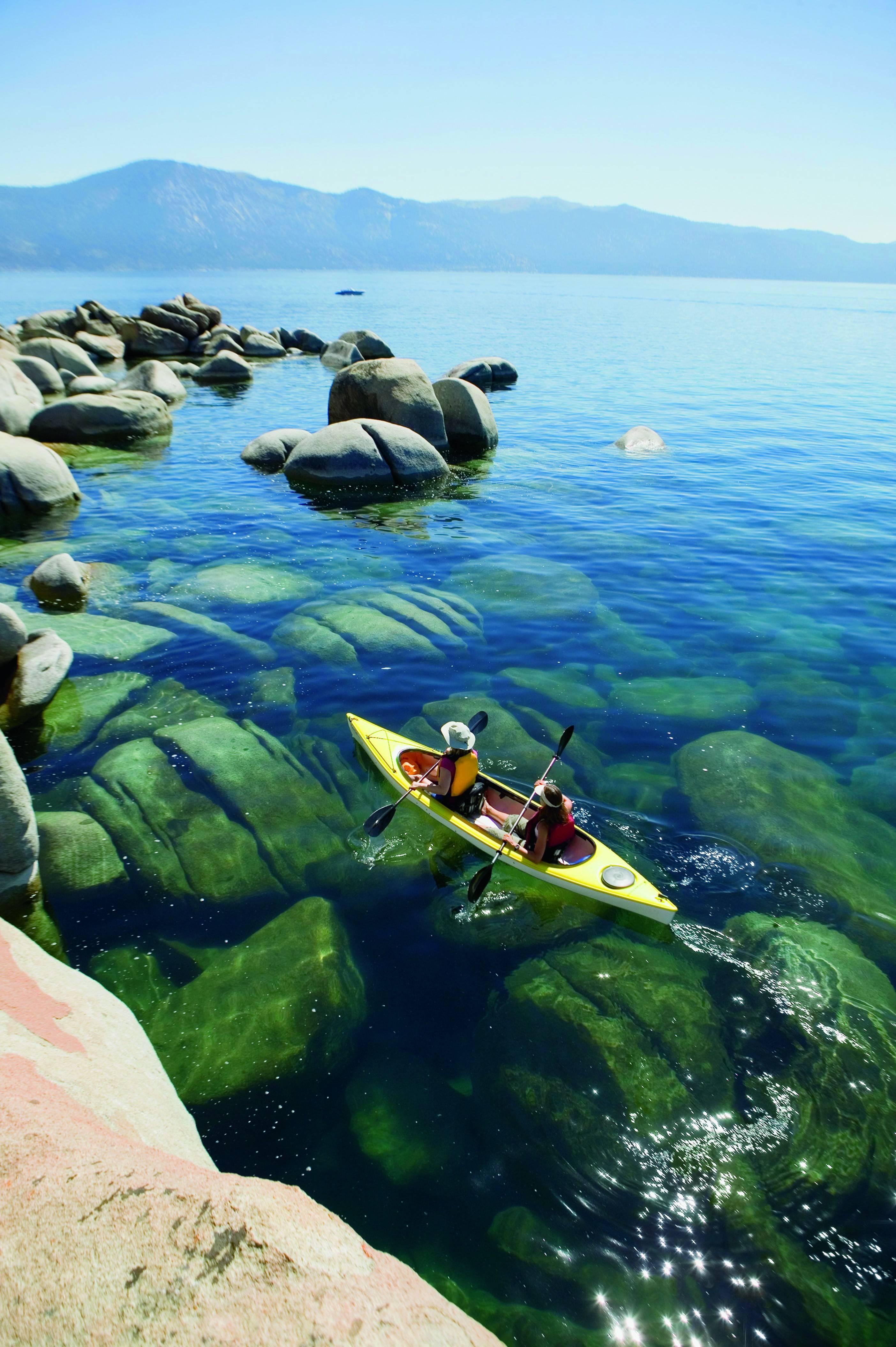 Kayakers on Lake Tahoe