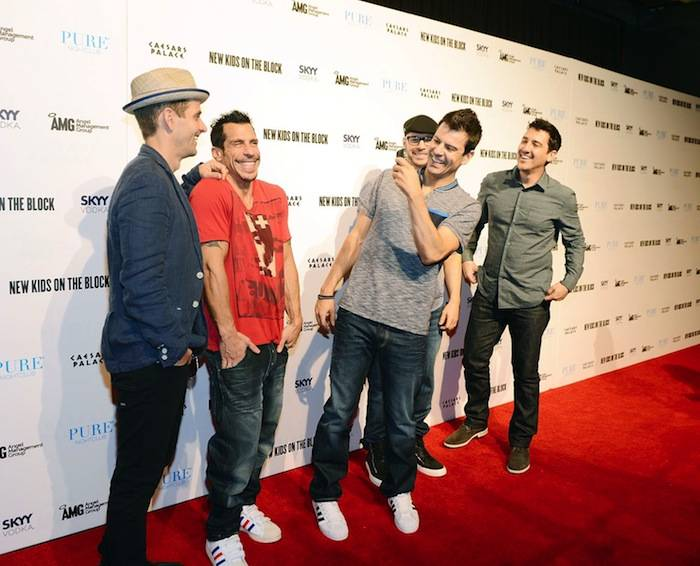 Pop Group New Kids On The Block Host An Evening At PURE Nightclub