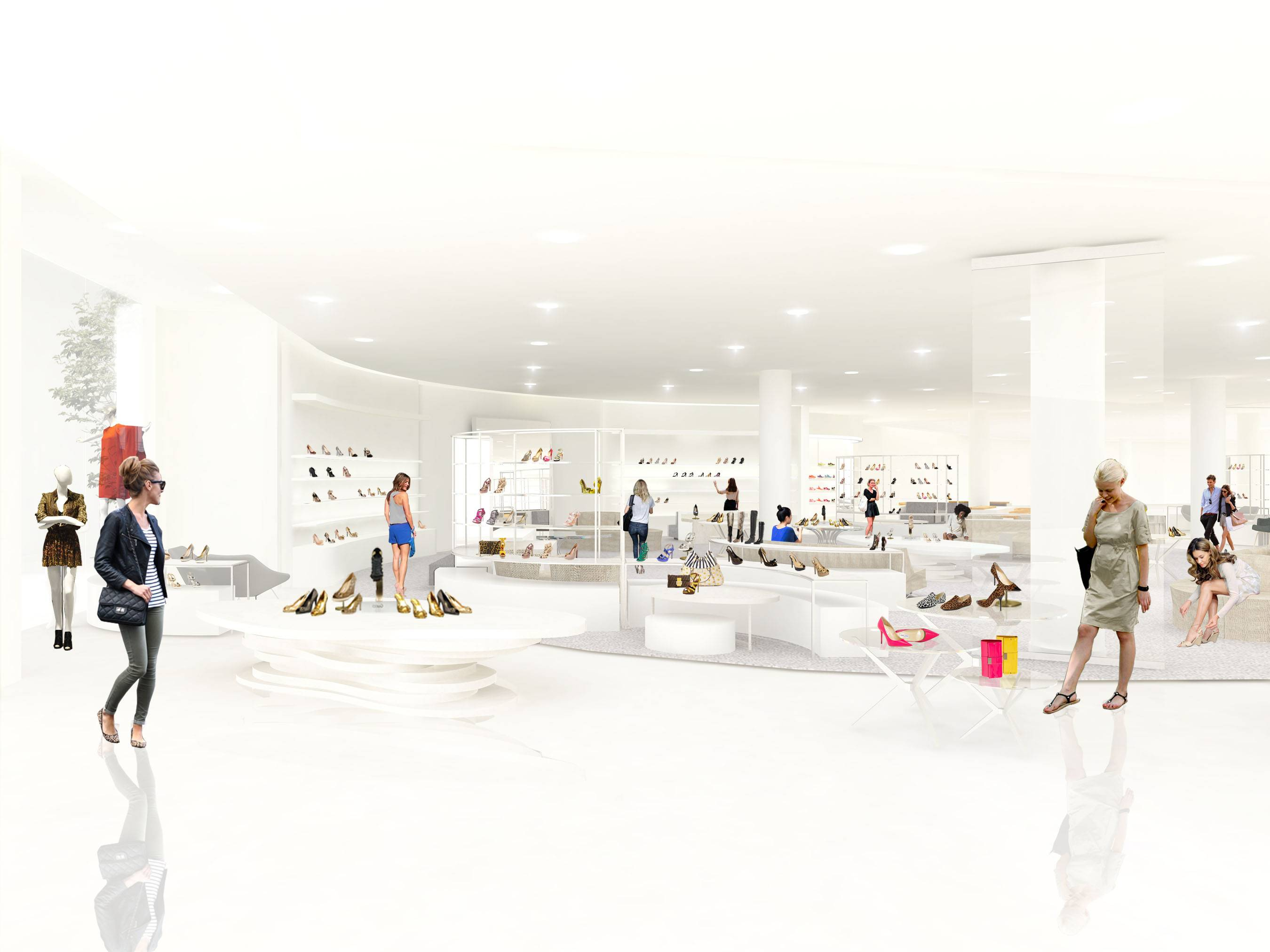 Nordstrom Americana Shoes department rendering